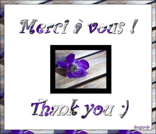 Merci pour votre amitié !
